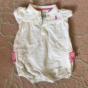 Ralph Lauren baby girl bubble romper 6 months